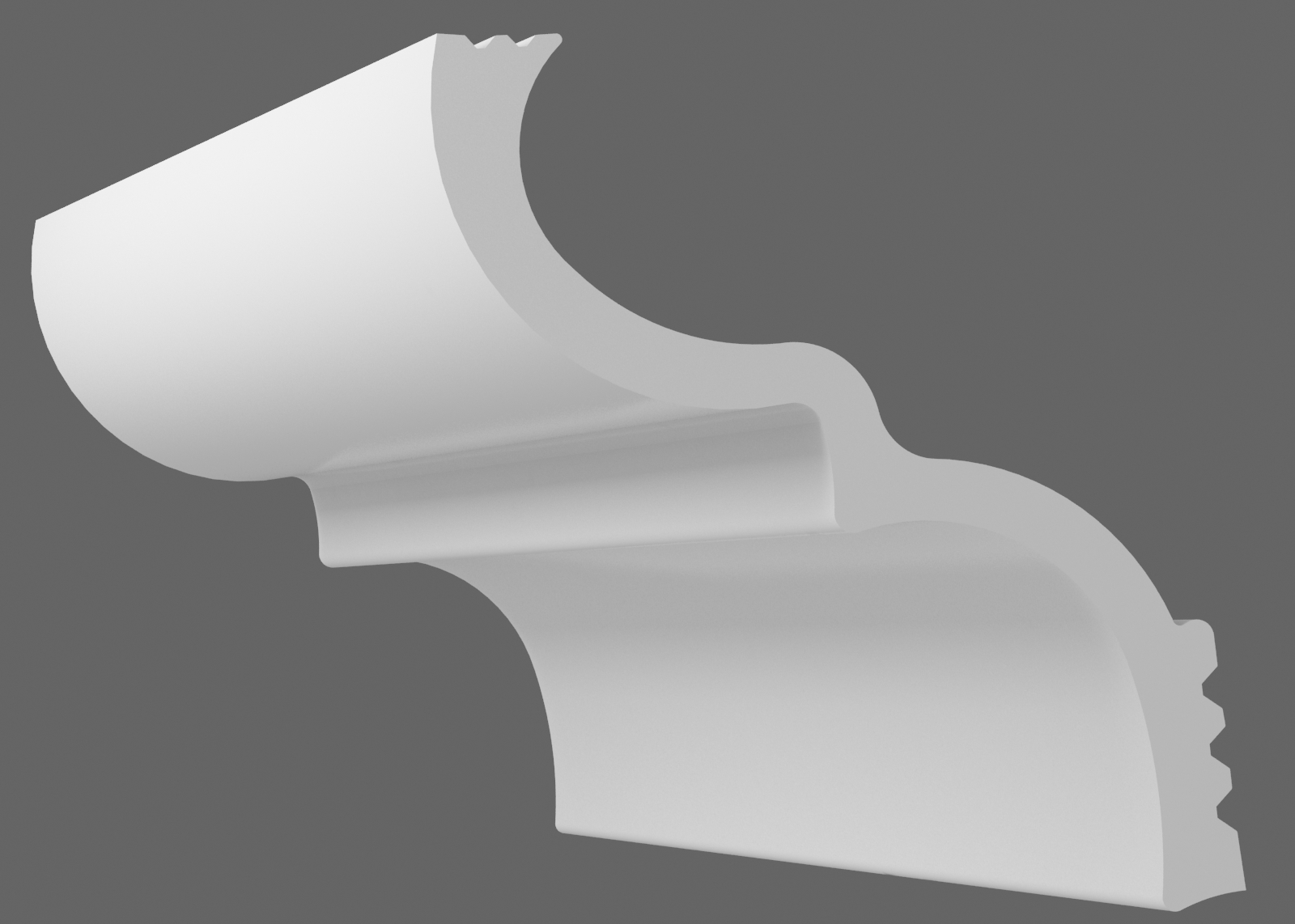 Потолочный плинтус S-100 (Размер:60х80мм)